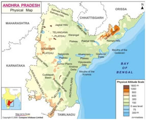 Geographical location of Andhra pradesh
